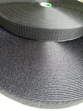 2rolls/set 2.5/3/3.8cm*25m sew-on Hook and Loop fastener tape White or Black not self-adhesive hook&loop for clothing
