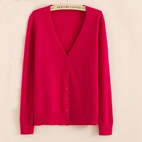 LOWEST PRICE Hot Sales 2016 Women S Cashmere Wool Knit Cardigan Female Loog Sleeves Candy Colour