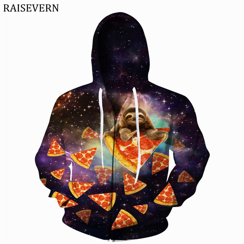 Fine Raisevern Dinosaur Sloth Galaxy Euro Size Men Hoodies Sweatshirts 3d Print Zipper Sweatshirts Cap Tops Men Hooded Nebula Jacket Hoodies & Sweatshirts