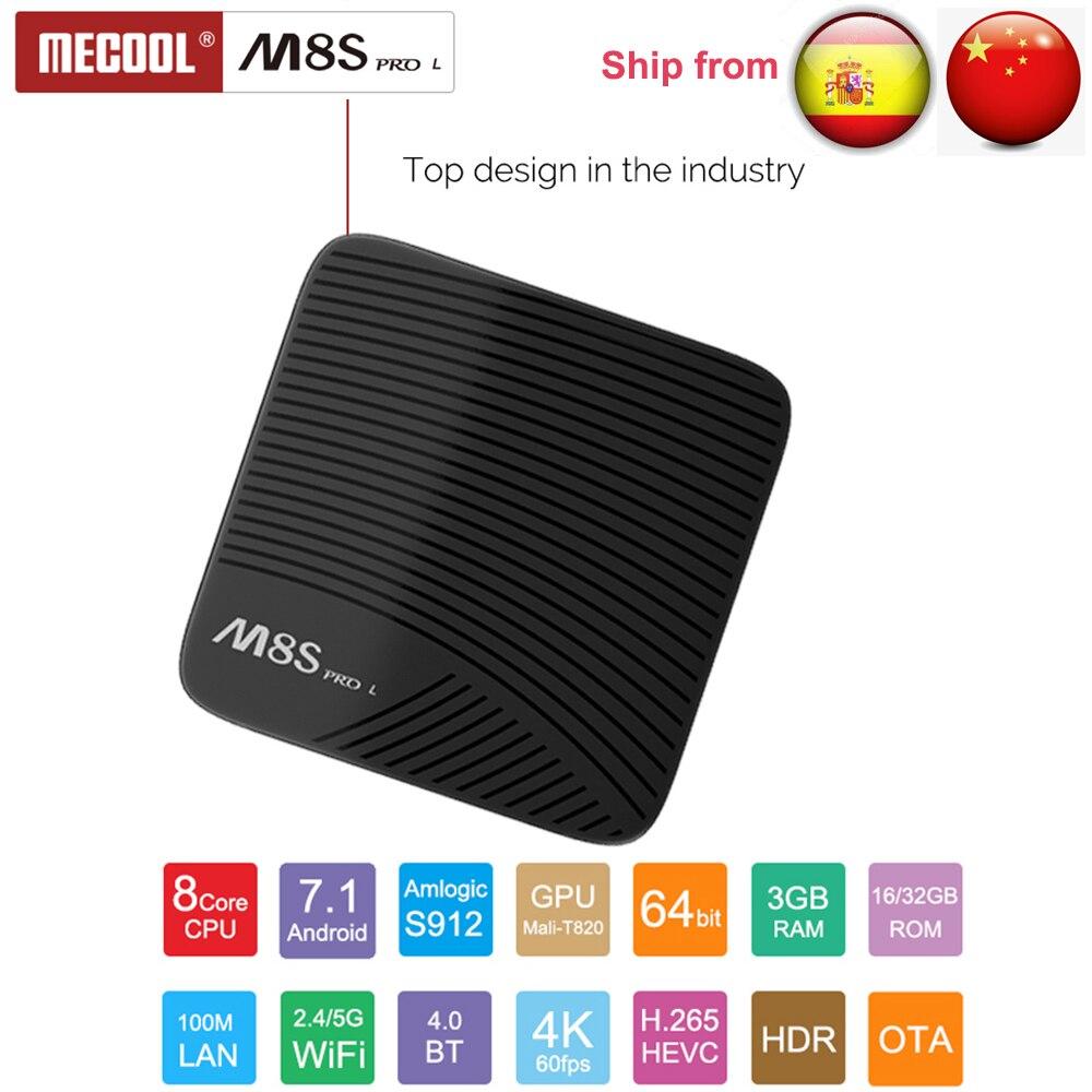 Mecool M8S PRO L Voice Control 4K TV Box Android 7.1 Amlogic S912 3G 16G/3G 32G Bluetooh 4.1 WIFI Set-top Box 3D Media Player цена 2017