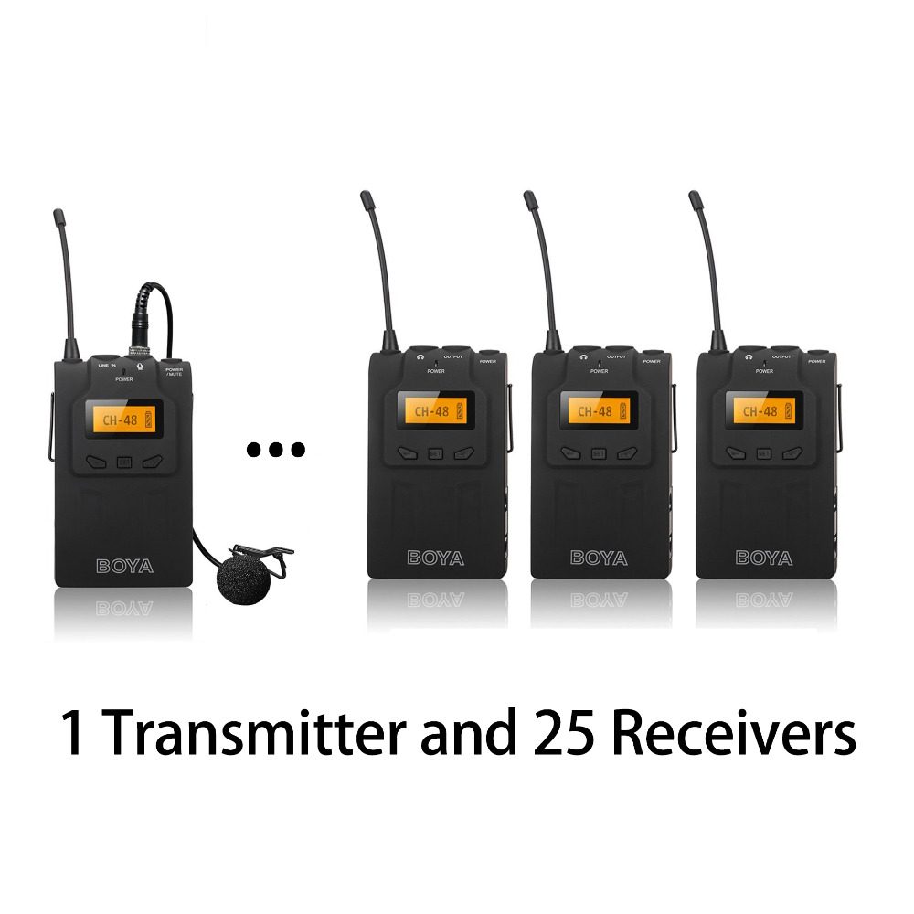 BOYA Wireless Tour Guide System UHF Wireless Simultaneous Interpretation System Translation Audio 25 Receivers and 1 Transmitter constant delight стойкая крем краска для волос delight trionfo 73 оттенка 60 мл 9 4 блондин бежевый 60 мл