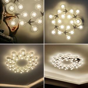 Image 5 - Candelabro led para sala de estar, dormitorio, hogar, Araña de techo moderna, iluminación, candelabro ZZX0008