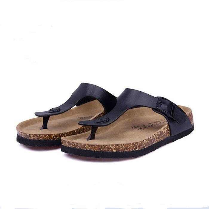 Fashion Women Slippers Flip Flops Summer Beach Cork Shoes Slides Girls Flats Sandals Casual Shoes Mixed Colors Plus Size 35-43 купить