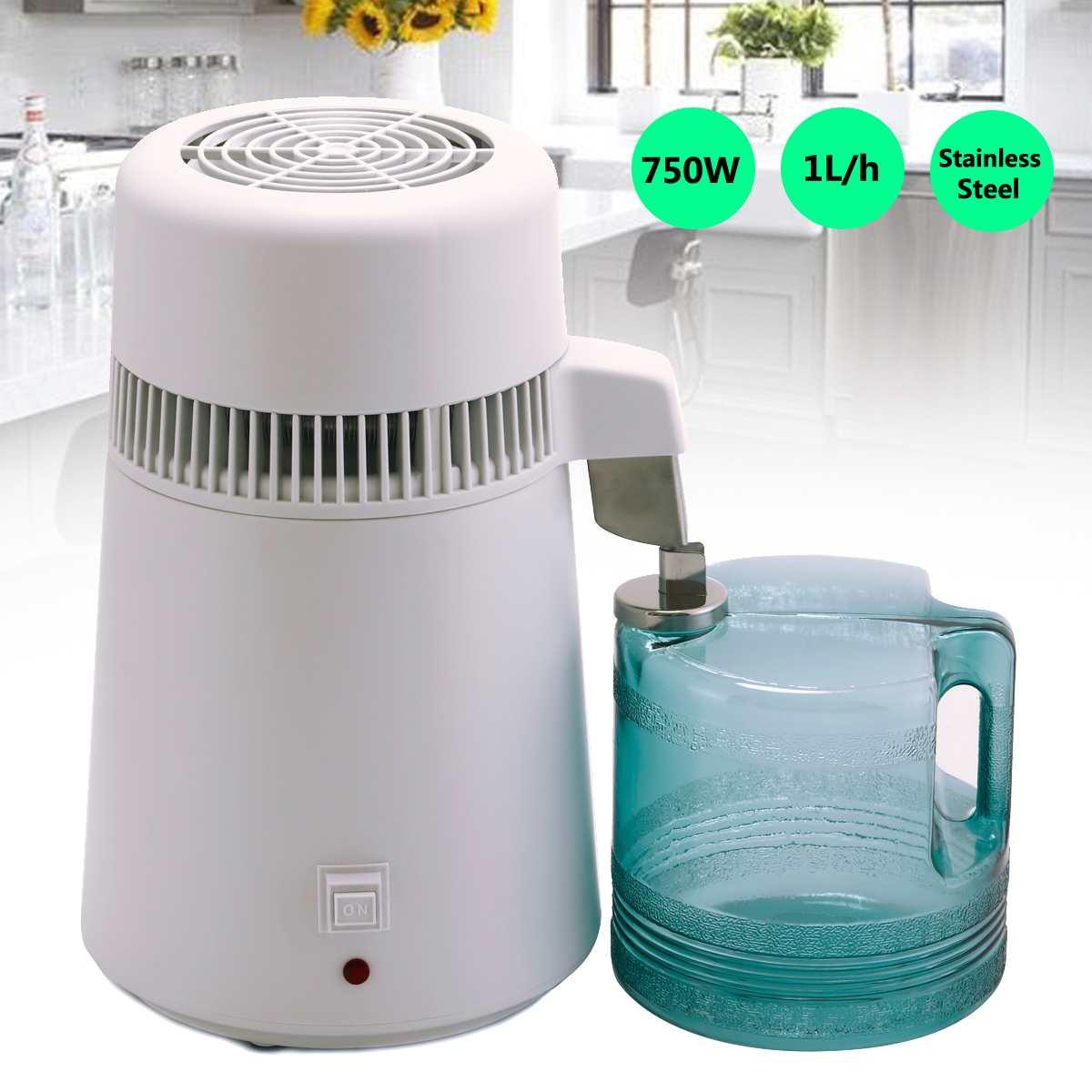 4L 220 240V Home Pure Water Distiller Filter Water Distilled Machine Dental Distillation Purifier Equipment Stainless Steel