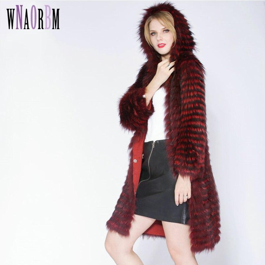 2019 porter un chapeau de mode de luxe Slim femmes manteau réel argent fourrure de renard vêtements d'extérieur fourrure de renard trois quarts manches vêtements