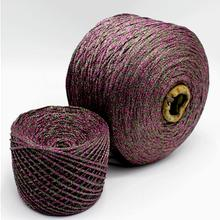 100 грамм Высококачественная цветная металлическая пряжа мерсеризованная хлопчатобумажная пряжа для вязания