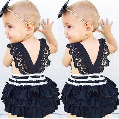 New Toddler Baby Girls Kid Jumpsuit Romper Bodysuit Clothes Outfits Set Playsuit