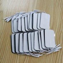 50 Uds./lote almohadillas de electrodos Tens Sticker, almohadilla de Gel conductora para masajeador para acupuntura corporal, terapia Digital EMS Estimulador muscular
