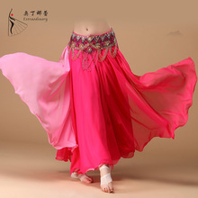 12 Colors New Belly Dancing Clothing Stage Performance Long Fly Skirts Professional Women Chiffon Belly Dance Skirt Q00586