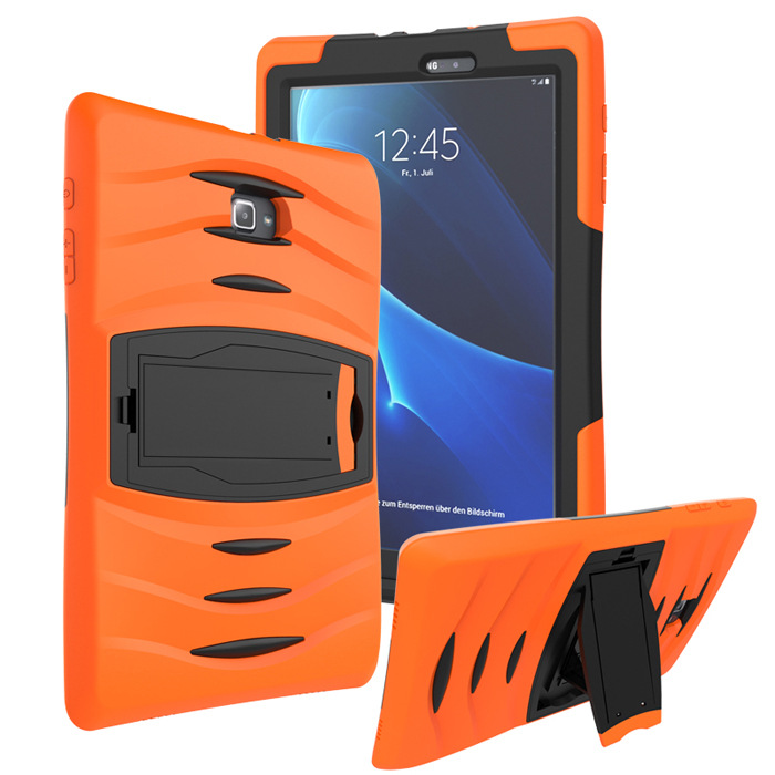 For Samsung Galaxy Tab A 10.1 T580 T585 T580N T585N Tablet Heavy Duty Rugged Impact Hybrid Case Kickstand Cover Shockproof +Gift tire style tough rugged dual layer hybrid hard kickstand duty armor case for samsung galaxy tab a 10 1 2016 t580 tablet cover
