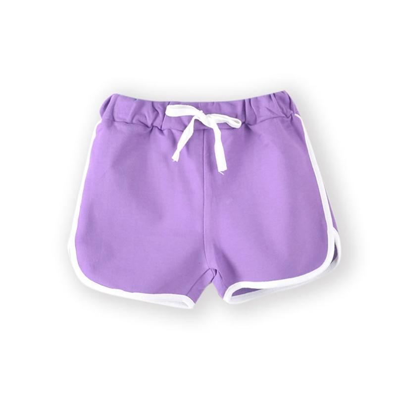 3-13Yrs Kids Shorts Boys Girls Summer Sport Shorts Pants Unisex Children Candy Color Casual Short Pants Trousers Bottoms 2