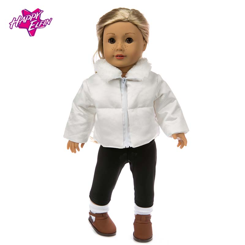 NEW Hot Sale Doll Clothes Suit Fit 18in American Girl Doll baby born Warm Jackets+Pants and Doll accessories Children best Gift princess dress for 18 inches american girl baby born doll 2017 new fashion bjd accessories clothes toy children christmas gift