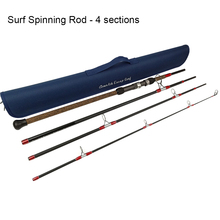Travel Fishing Rod Aventik Escape 24T Carbon Travel Surf Spinning Rod 4 Pieces 9FT 15-30Ib 1-5oz Spinning Fishing Rod Surf Rod