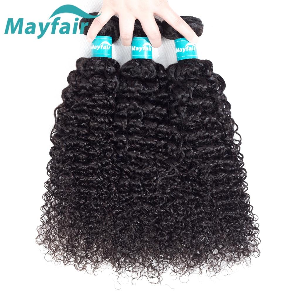 3 Bundles Deals Mongolian Kinky Curly Hair Weave Bundles 100% Human Hair Extensions Mayfair Remy Hair Weaving No Tangle
