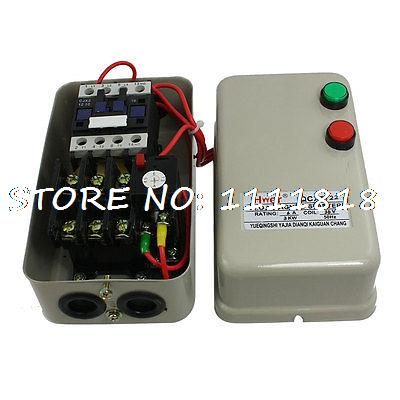Three Phase Motor Magnetic Starter Contactor 36V Coil 3KW 4HP 4.5-7.2A chint electromagnetism starter magnetic force starter qc36 10t motor starter phase protect magnetic force switch