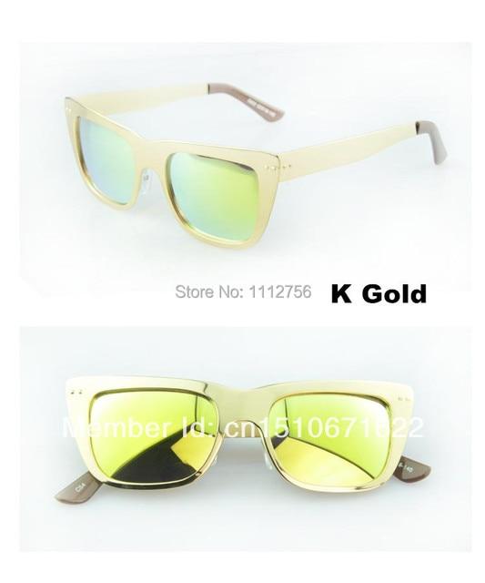 luxury shinning women mens sunglasses brands reflective mirror lens