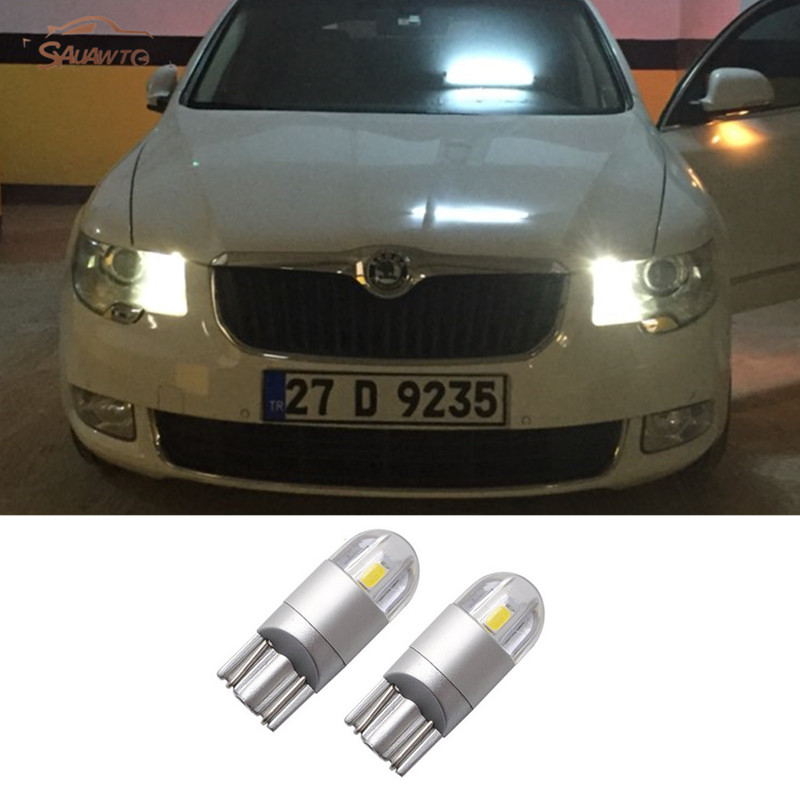 2 x T10 W5W LED 194 192 168 LED Car Parking Light W5W For Skoda octavia 2 a7 a5 fabia rapid yeti superb Fabia octvia