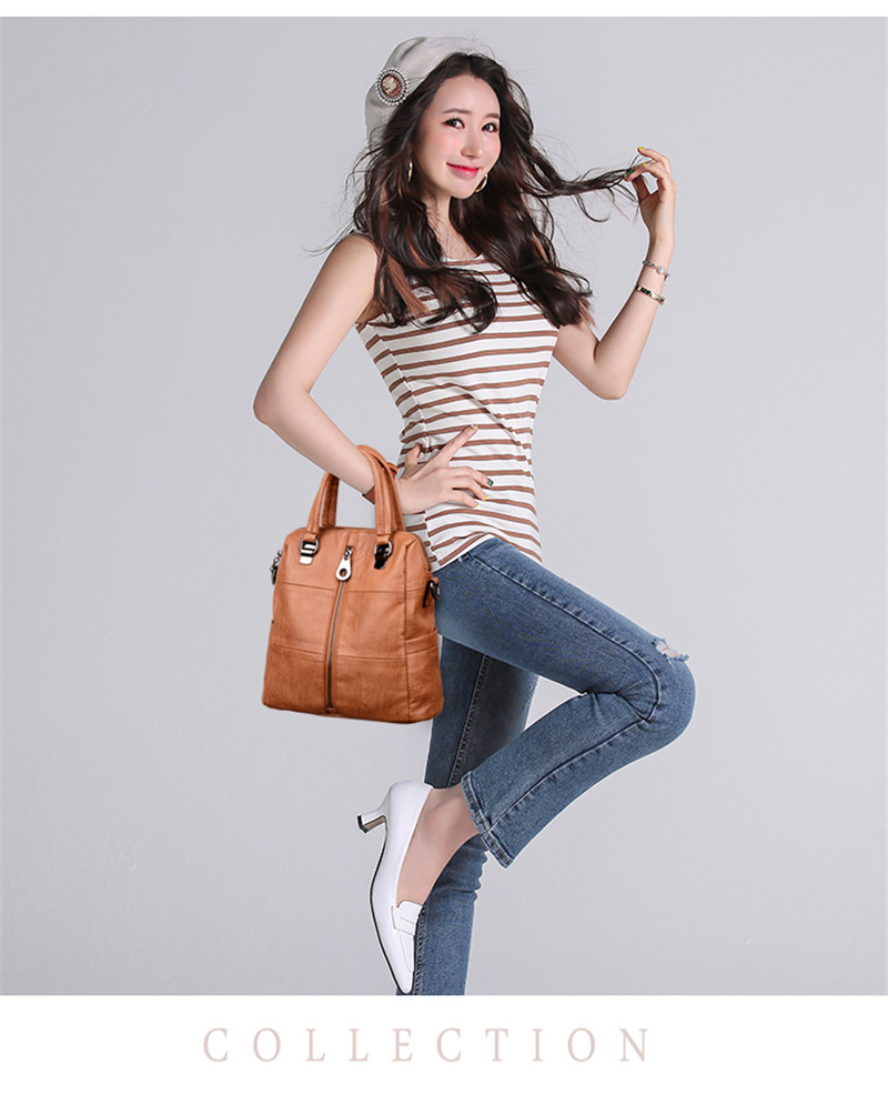 HTB1oVkmBZuYBuNkSmRyq6AA3pXaw 3-in-1 Women Leather Backpacks Vintage Female Shoulder Bag Sac a Dos Travel Ladies Bagpack Mochilas School Bags For Girls Preppy