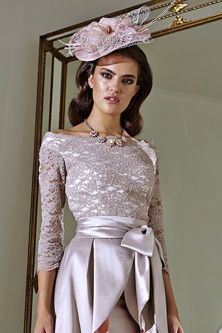 Plus-Size-2015-Mother-of-The-Bride-Dresses-Three-Quater-High-Collar-Purple-Lace-Short-Brides (2)