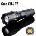 Lanterna LED 3800 lumen zoomable led torch XM-T6 adequado para 18650/AAA preto lanternas de led de alumínio para a caça