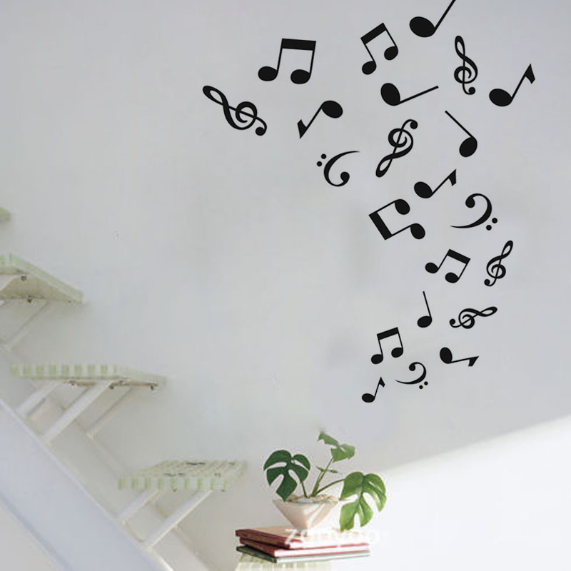 DIY Home Decor Removable Musical Notes Wall Decoration Decal Vinyl ...