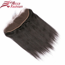 wicca fashion HAIR Brazilian Straight Hair Lace Frontal Closure 13×4 Swiss Lace Ear To Ear Remy Human Hair Closure