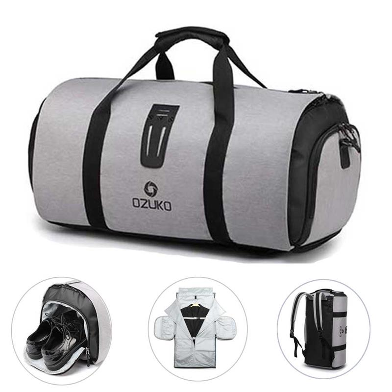 OZUKO Large Capacity Travel Hand Bag Waterproof Multifunction Luggage Duffle Backpcak for Trip Suit Storage with