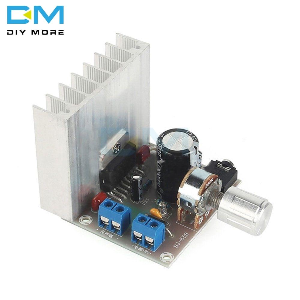DC 12V TDA7377 35W+35W 2x35W Amplifier Board 2.0 Double Track No Noise Amplifier Module Bookshelf Speakers Power