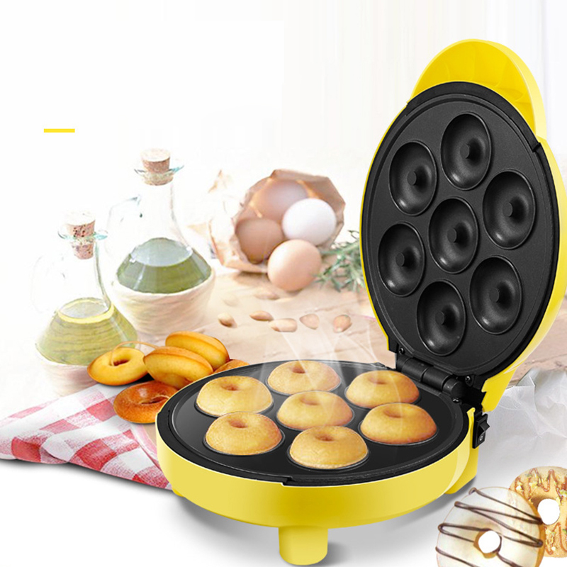 Home Automatic Electric Mini Doughnut Maker Cake Machine Double-sided Heating Cooking Machine for Kitchen 220V цены