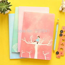 1pc/lot Dreamy Fairy Tale Watching Star Girl Series Notebook DIY Diary Book Cute Stationery Office School Supplies Gift