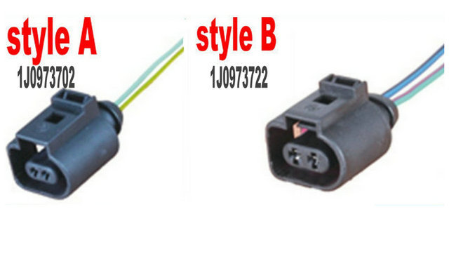 """longyue 10pcs 2pinový konektor pro opravu konektoru pro pigtail pro VW AUDI 1J0 973 702 nebo 1J0 973 722 12 """""""