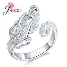 d7d945aebe JEXXI venta al por mayor del Dragón abierto anillos para los hombres y las  mujeres de fiesta de cumpleaños de la joyería de la p.