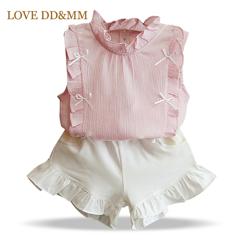 Girls-Clothing-Sets-2017-Summer-Children-Clothing-Wear-Pearl-Chiffon-T-Shirts-Shorts-Sets-Kids-Clothes-For-Girl-2
