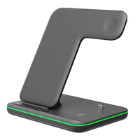 Hadinas 3in1 Wireless Charger Stand for iPhone X XS Max XR 8 8Plus Fast Magnetic Wireless Charging for Apple Watch 4 3 2 New
