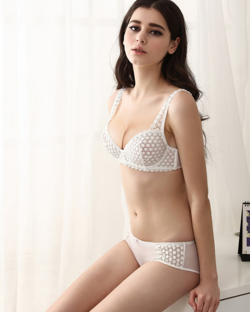 05719d4485c New Model Bra & Brief Sets Flower Gauze Lace Embroidery Ultra thin Transparent  Sexy Bra Push Up Underwear Set BS363-in Bra & Brief Sets from Underwear ...