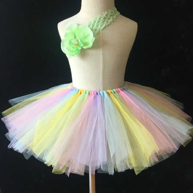 8651af453161 Multicolor Girls Tutu Skirts Baby Handmade Fluffy Tulle Skirts ...