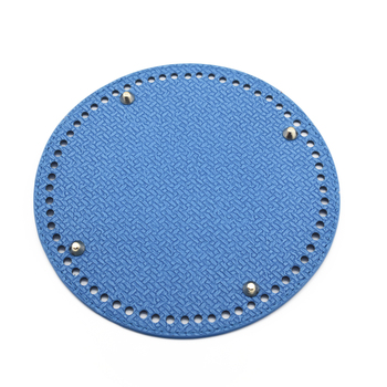 19*19cm Circle Bottom for Knitting Bag Bottoms with Holes Braided Leather Handbag Shoulder Handmade Accessories Blue