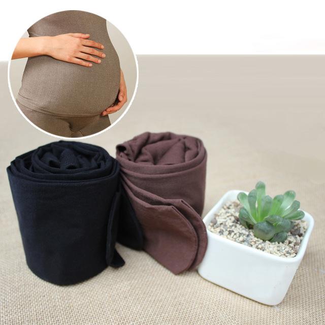 Marca JMY mulher grávida 320D outono estilo engrossar leggings com cinta elástica ajustar maternidade leggings footless