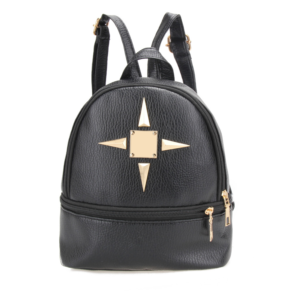 New Fashion PU Leather Ladies Multifunction Mini Backpack Shoulder Bag School Bags for Teenage Girls