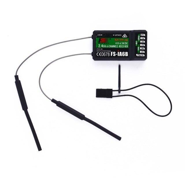Receptor FlySky FS iA6B iA6B 2,4G 6CH AFHDS para FS i10, transmisor FS i6, piezas de carreras FPV