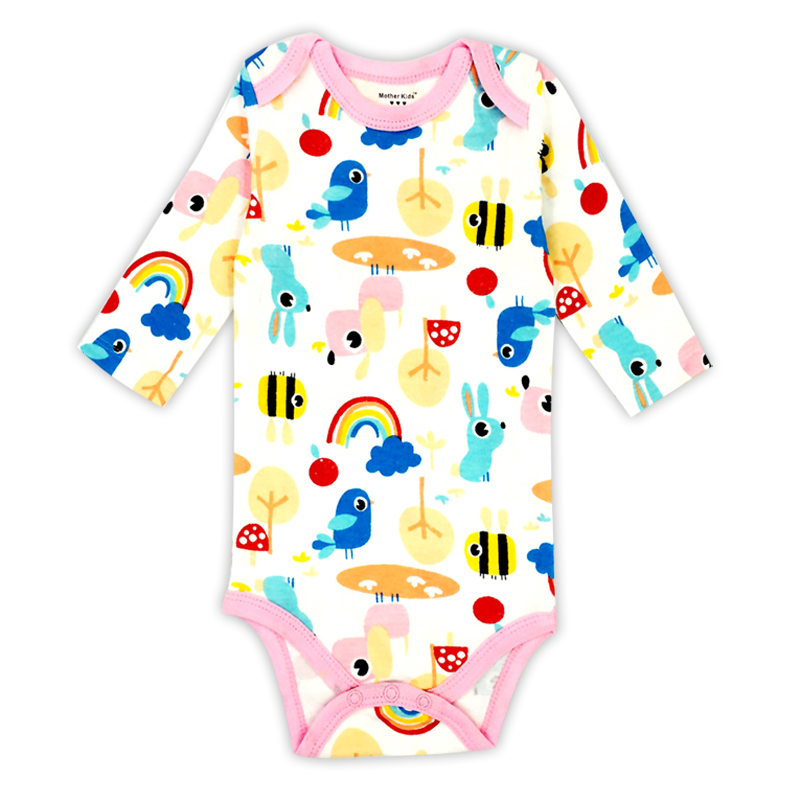 Baby Boys Girls Romper New born Babies Bebes Long Sleeve Cartoon Print One Pieces Infant Clothes