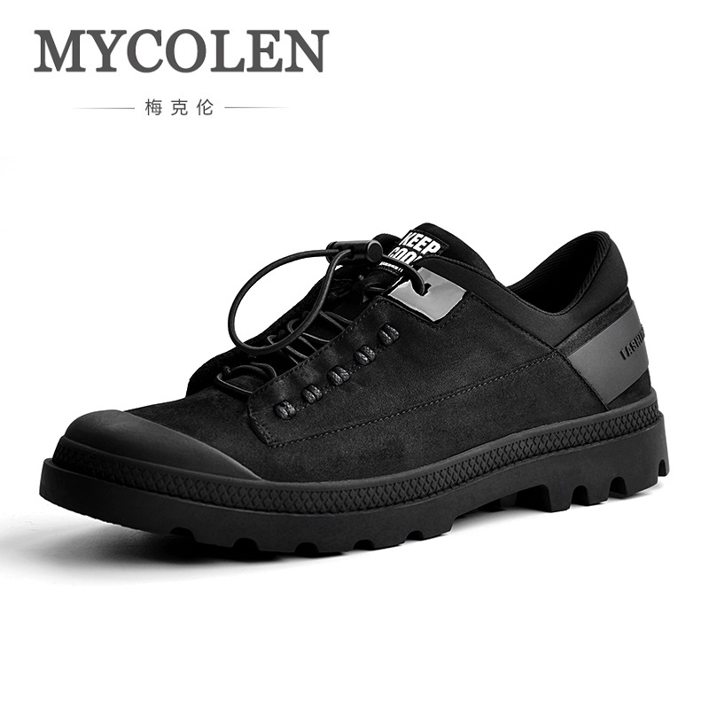MYCOLEN 2018 Brand New Spring/Autumn Men Breathable Loafers Black Shoes Lightweight Fashion Casual Men Shoes Sepatu Pria spring autumn casual men s shoes fashion breathable white shoes men flat youth trendy sneakers