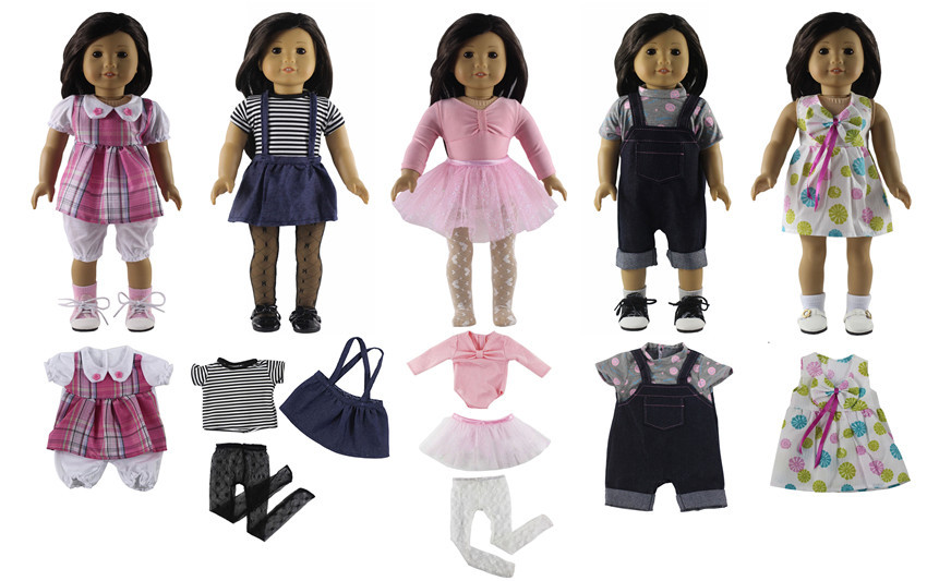 New 5 Set Different Style Doll Clothes for 18 American Girl Doll S04
