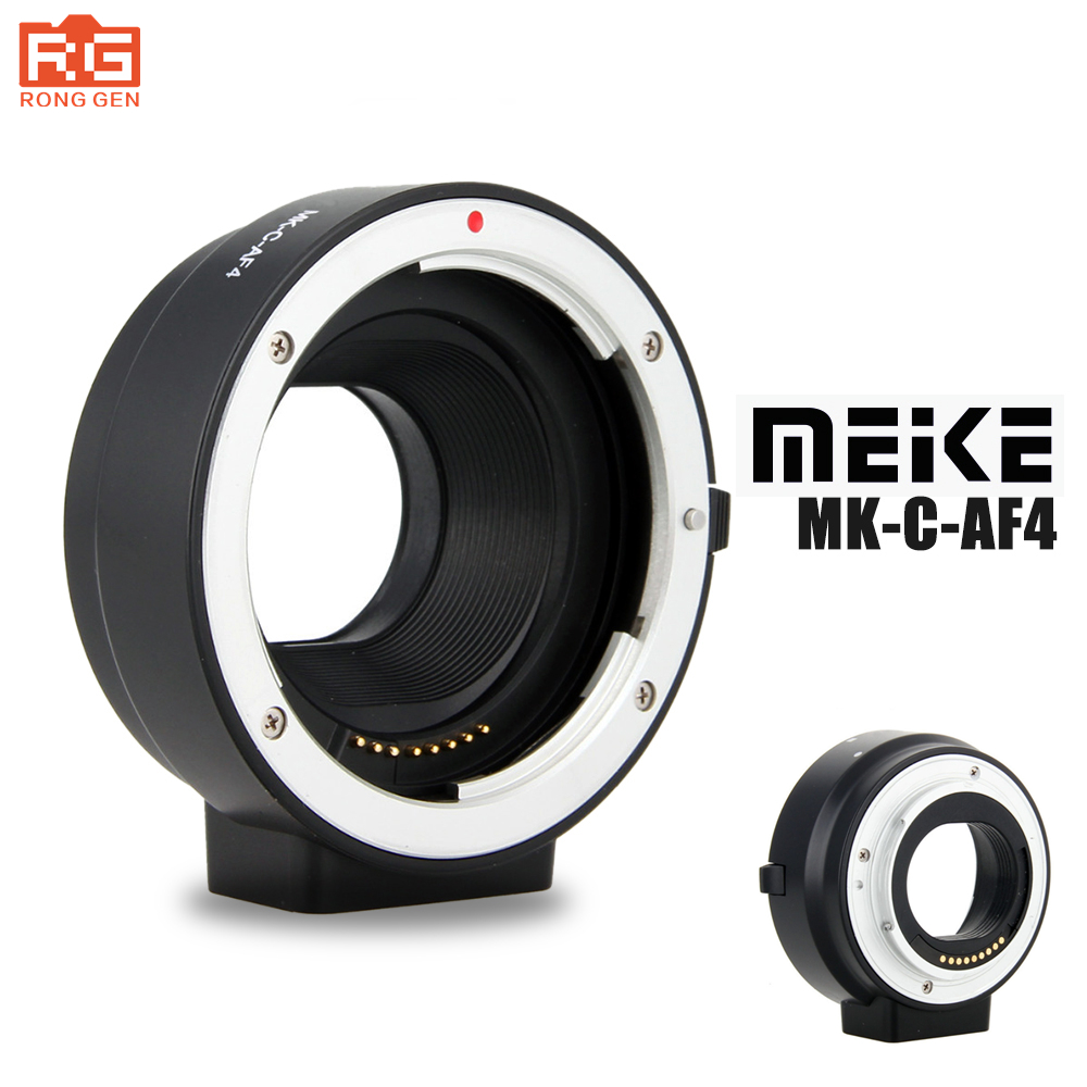 Meike MK-C-AF4 Electronic Autofocus Adapter for Canon EF EF-s lens for EOS M EF-M mount Support Yongnuo YN-50mm f/1.8 for Canon meke meike mk s af4 auto focus mount lens adapter ring for sony micro single camera to canon ef ef s camera