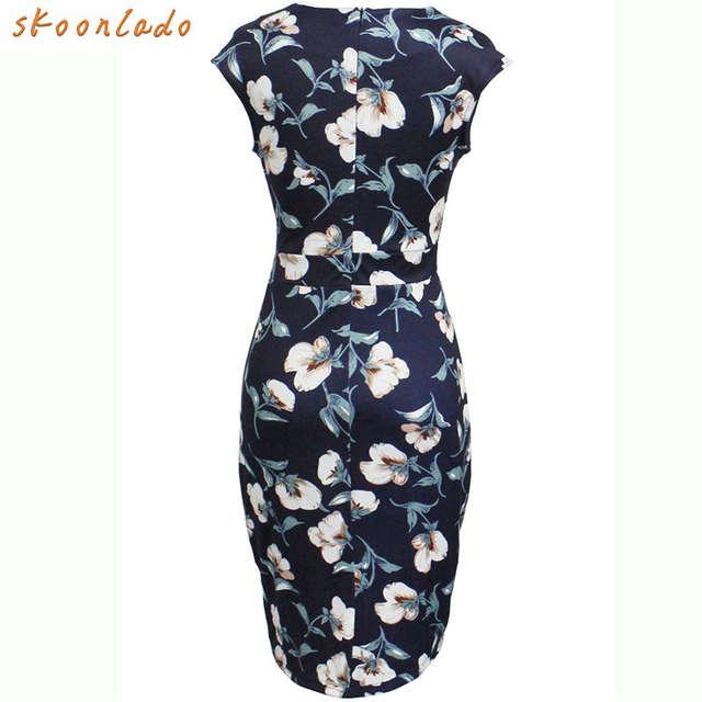b9f64071410ae US $16.31 47% OFF|classy Office Lady Women dress cotton summer femaldress  elegant party fancy ladies dresses clothing summer beauty dress slimming-in  ...