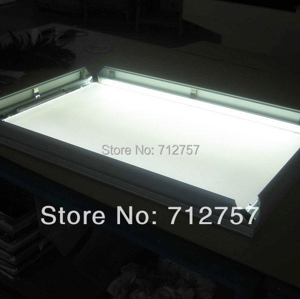 Online Shop Double Sided Window Hanging Slim Aluminum Snap Led ...