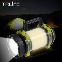 LED サーチライトランタン 2600 内蔵バッテリーハンドヘルドポータブル懐中電灯キャンプライトサイドライトトーチ防水狩猟