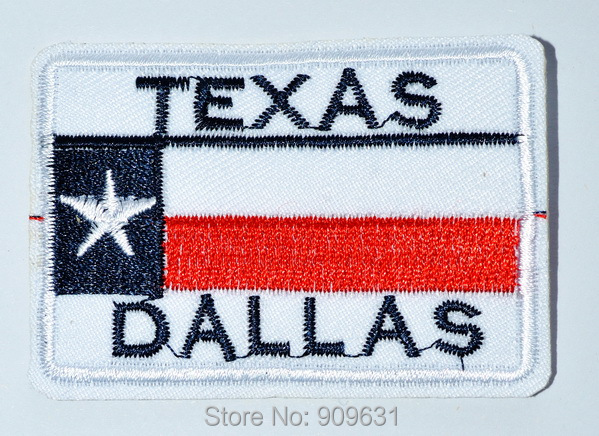 Texas State Flag Dallas Star Embroidery Iron On Patch In Patches