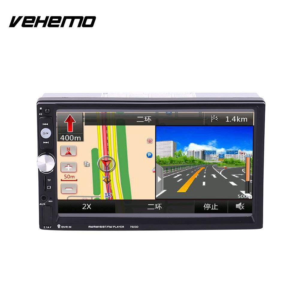 Vehemo 2 Double DIN 7 Inch Car MP5 7023D Support With GPS Navigation (not include)FM Bluetooth RadioVehemo 2 Double DIN 7 Inch Car MP5 7023D Support With GPS Navigation (not include)FM Bluetooth Radio