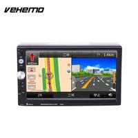 2 Double DIN 7 Inch Car MP5 7023D Support With GPS Navigation FM Bluetooth Radio